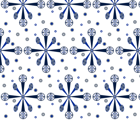 Snow Crystals fabric by ally_the_junebug on Spoonflower - custom fabric
