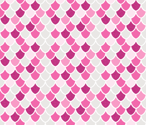 pink maui mermaid scales // pinks fabric by ivieclothco on Spoonflower - custom fabric