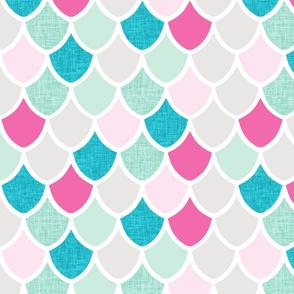 pink maui mermaid scales // pink + aqua