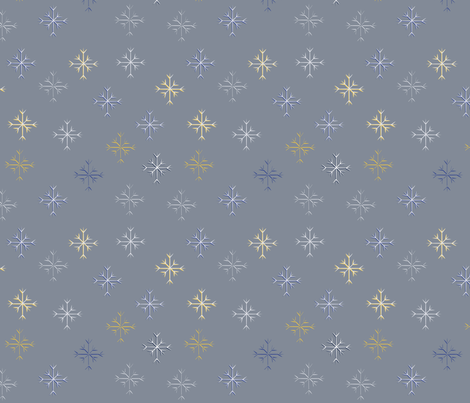 Snowflakes fabric by svaeth on Spoonflower - custom fabric