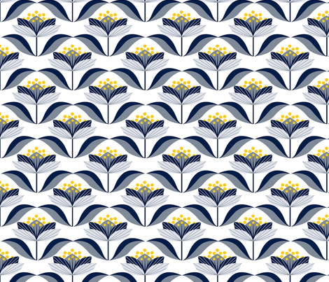 Winter Bloom fabric by theboutiquestudio on Spoonflower - custom fabric