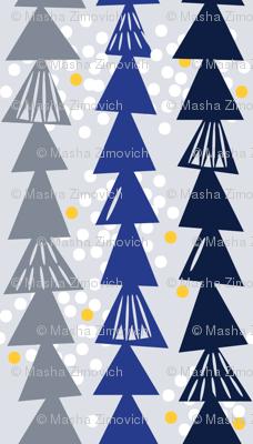 Mod snowy winter trees