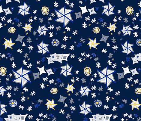 winter at night fabric by lalalamonique on Spoonflower - custom fabric