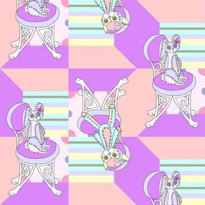 Chappy and Neko Plushies Purple-Pink