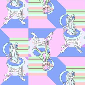 Chappy and Neko Plushies Blue-Pink