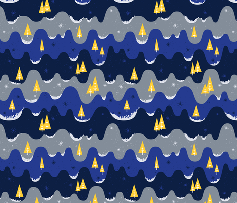 Festive Winter Scape fabric by bexdsgn on Spoonflower - custom fabric