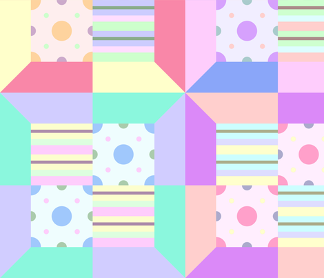 printed quilt fabric by chappy_and_neko on Spoonflower - custom fabric