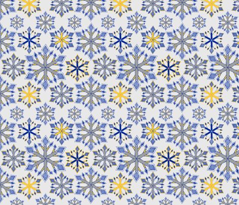 Winter Snowflake fabric by palifino on Spoonflower - custom fabric