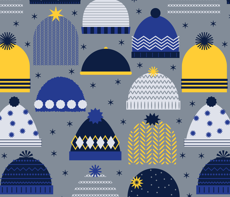 HEADWARMERS DARK fabric by katerhees on Spoonflower - custom fabric