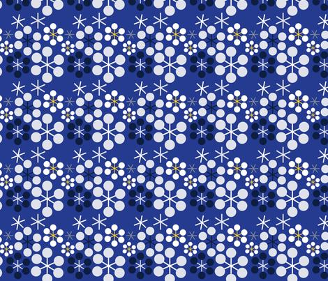 Snow Flower fabric by imgolly on Spoonflower - custom fabric