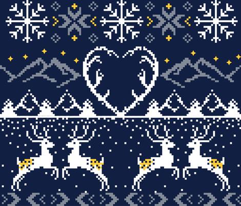 Mountain Stitch/ Dark fabric by appaloosa_designs on Spoonflower - custom fabric