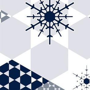 Mod Wintery Hexagons