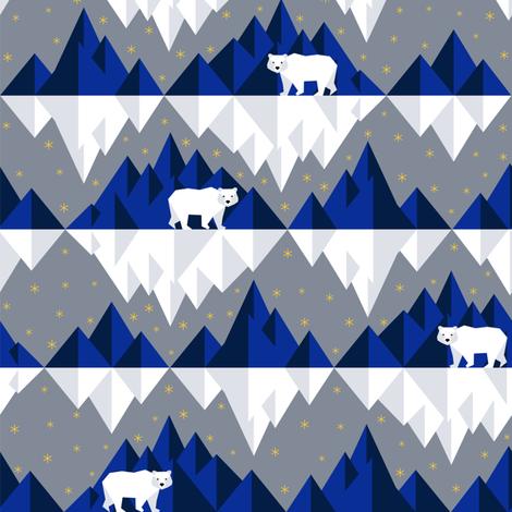 Ice Bears fabric by svetlana_prikhnenko on Spoonflower - custom fabric