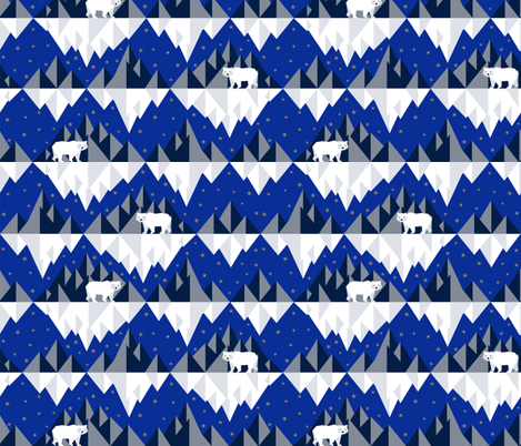 Polar Bears fabric by svetlana_prikhnenko on Spoonflower - custom fabric