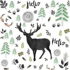 """14"""" Hello Woodland Deer"""
