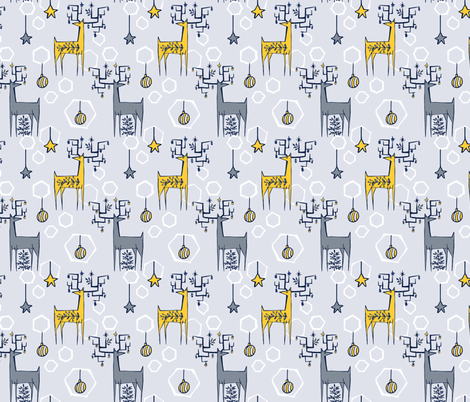 Collingwood - Decorated Deer fabric by diane555 on Spoonflower - custom fabric