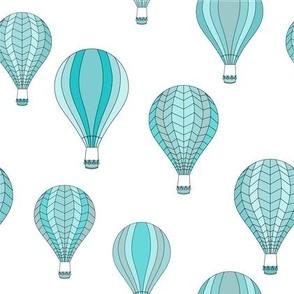 Blue hot-air balloon