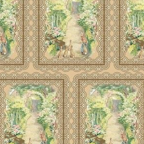Beatrix Potter Garden Lace - Kraft Lace - Medium Scale