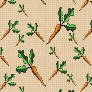 Carrot Toss - Kraft gingham - Coordinates Available