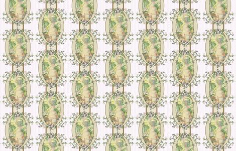 Beatrix Potter Flower Garden - Blackberry vine Oval Frame - Coordinates Available fabric by aspenartsstudio on Spoonflower - custom fabric