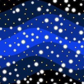 06918981 : starry winter night sky