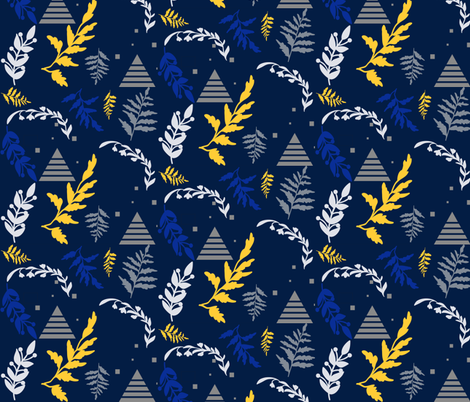 Block-Christmas-Tree-and-leaves fabric by hudsondesigncompany on Spoonflower - custom fabric
