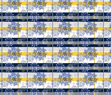 Snowflakes fabric by azureimagestudio on Spoonflower - custom fabric