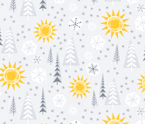 Winter Sunshine fabric by byre_wilde on Spoonflower - custom fabric