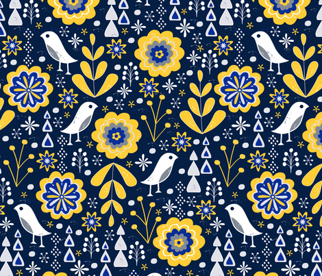 Winter Mod fabric by jill_o_connor on Spoonflower - custom fabric