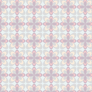 Abstract floral pattern, soft tones