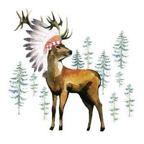 """7"""" - 8""""  Aztec Deer"""