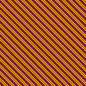 Magic School Inspired Gryffin Lion Diagonal Double Stripes Dark Version