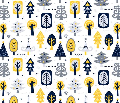 winter_land fabric by la_fabriken on Spoonflower - custom fabric