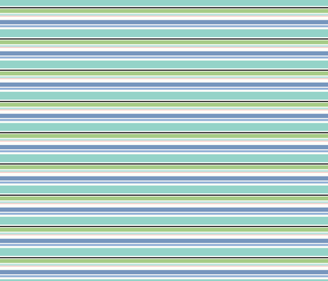 Mermaid Stripe fabric by julie_nutting on Spoonflower - custom fabric