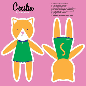 Cecilia Cat Cut and Sew