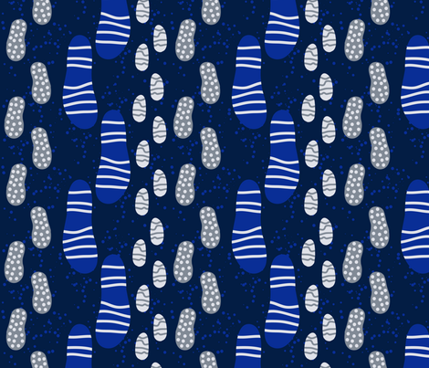 Footprints in the evening snow fabric by pinky_wittingslow on Spoonflower - custom fabric