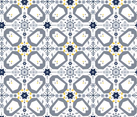 Penguin Winter Wonderland fabric by sarah_knight on Spoonflower - custom fabric
