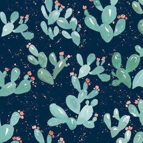 Desert Cactus (Navy)