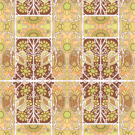 In the Golden Sun fabric by edsel2084 on Spoonflower - custom fabric