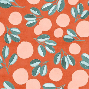 Modern Magnolia (Red)