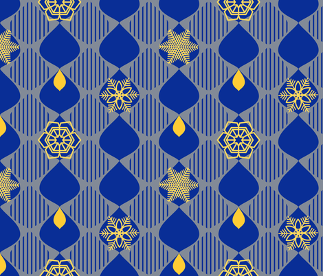 Winter Mod Snowflakes fabric by kozihut on Spoonflower - custom fabric