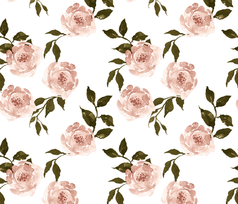 """10.5"""" Gypsy Heart / Pink & Olive Green fabric by shopcabin on Spoonflower - custom fabric"""