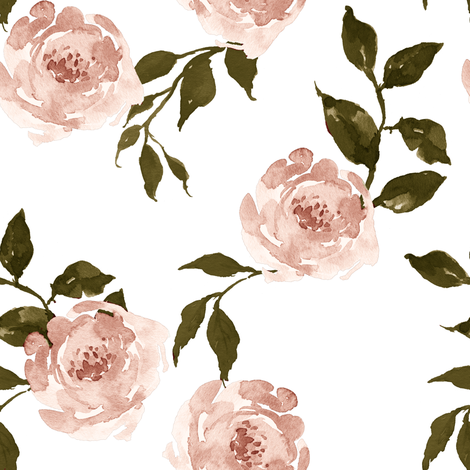 """8"""" Gypsy Heart / Pink & Olive Green fabric by shopcabin on Spoonflower - custom fabric"""
