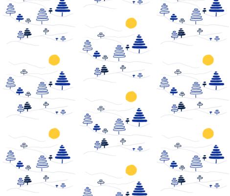 Tree Slopes fabric by atlas_&_tootsie on Spoonflower - custom fabric
