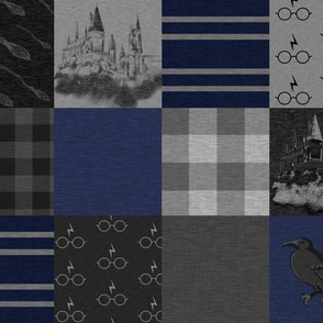 Witches and Wizards- Navy's And Grey - Raven - Castles