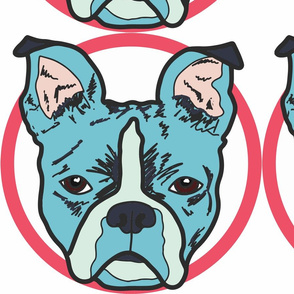 Comic Styling of a Boston Terrier Puppy