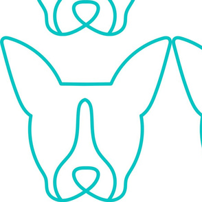 Simple Lined Boston Terrier Face