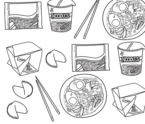 doodled noodles fabric by annaboo on Spoonflower - custom fabric