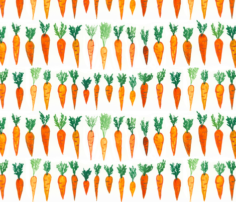 Big Carrot Patch fabric by positivelyradishing on Spoonflower - custom fabric