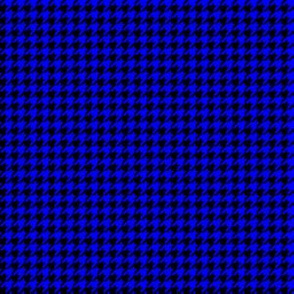 Quarter Inch Blue and Black Houndstooth Check
